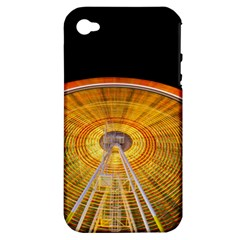 Abstract Blur Bright Circular Apple Iphone 4/4s Hardshell Case (pc+silicone)