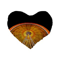 Abstract Blur Bright Circular Standard 16  Premium Heart Shape Cushions