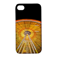 Abstract Blur Bright Circular Apple Iphone 4/4s Hardshell Case With Stand