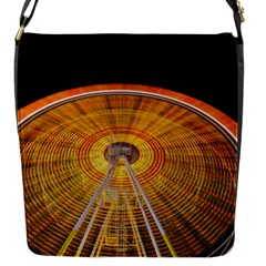 Abstract Blur Bright Circular Flap Messenger Bag (s)