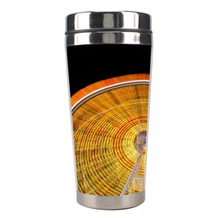 Abstract Blur Bright Circular Stainless Steel Travel Tumblers