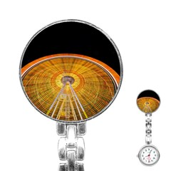 Abstract Blur Bright Circular Stainless Steel Nurses Watch