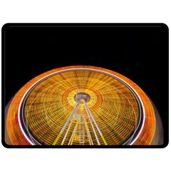 Abstract Blur Bright Circular Double Sided Fleece Blanket (large)