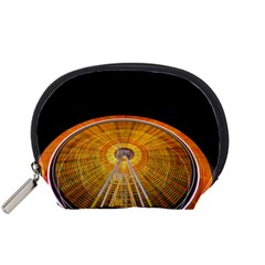 Abstract Blur Bright Circular Accessory Pouches (small)