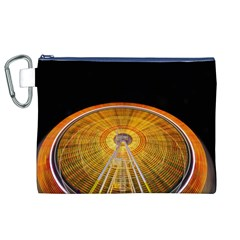 Abstract Blur Bright Circular Canvas Cosmetic Bag (xl)