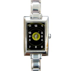 Abstract Futuristic Lights Dream Rectangle Italian Charm Watch