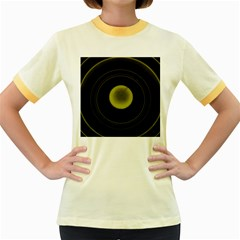 Abstract Futuristic Lights Dream Women s Fitted Ringer T Shirts