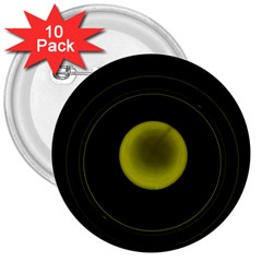 Abstract Futuristic Lights Dream 3  Buttons (10 Pack)