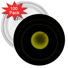 Abstract Futuristic Lights Dream 3  Buttons (100 Pack)