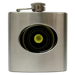Abstract Futuristic Lights Dream Hip Flask (6 oz)