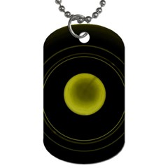 Abstract Futuristic Lights Dream Dog Tag (two Sides)