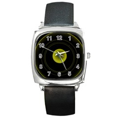 Abstract Futuristic Lights Dream Square Metal Watch