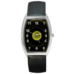 Abstract Futuristic Lights Dream Barrel Style Metal Watch