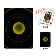 Abstract Futuristic Lights Dream Playing Card