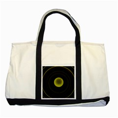 Abstract Futuristic Lights Dream Two Tone Tote Bag