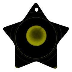 Abstract Futuristic Lights Dream Star Ornament (two Sides)