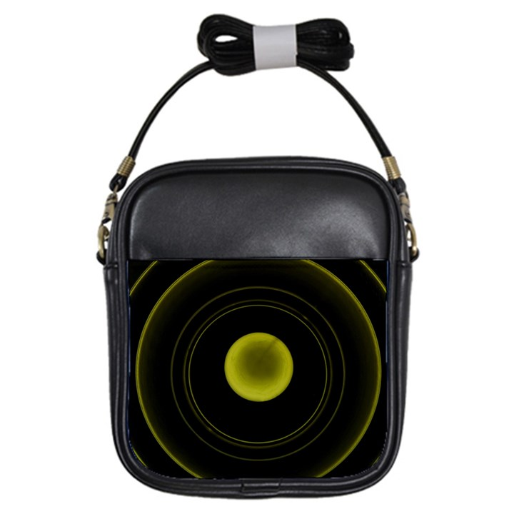 Abstract Futuristic Lights Dream Girls Sling Bags