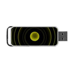 Abstract Futuristic Lights Dream Portable Usb Flash (one Side)