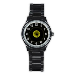 Abstract Futuristic Lights Dream Stainless Steel Round Watch