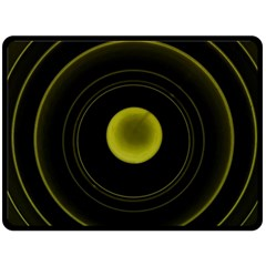 Abstract Futuristic Lights Dream Double Sided Fleece Blanket (large)