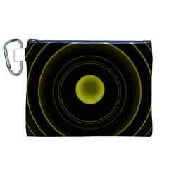 Abstract Futuristic Lights Dream Canvas Cosmetic Bag (xl)