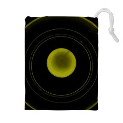 Abstract Futuristic Lights Dream Drawstring Pouches (extra Large)