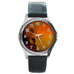 Abstraction Color Closeup The Rays Round Metal Watch
