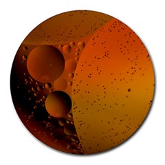 Abstraction Color Closeup The Rays Round Mousepads