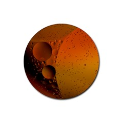 Abstraction Color Closeup The Rays Rubber Round Coaster (4 pack)