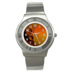 Abstraction Color Closeup The Rays Stainless Steel Watch