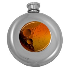 Abstraction Color Closeup The Rays Round Hip Flask (5 Oz)