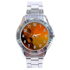 Abstraction Color Closeup The Rays Stainless Steel Analogue Watch