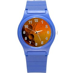 Abstraction Color Closeup The Rays Round Plastic Sport Watch (s)