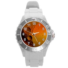 Abstraction Color Closeup The Rays Round Plastic Sport Watch (l)