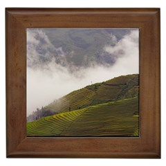 Agriculture Clouds Cropland Framed Tiles