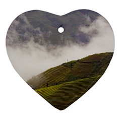 Agriculture Clouds Cropland Ornament (heart)