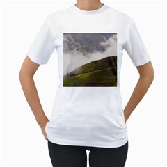 Agriculture Clouds Cropland Women s T Shirt (white) (two Sided)