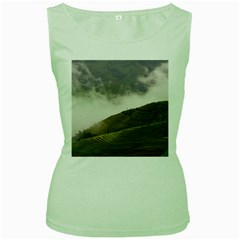 Agriculture Clouds Cropland Women s Green Tank Top
