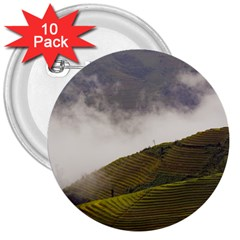 Agriculture Clouds Cropland 3  Buttons (10 Pack)