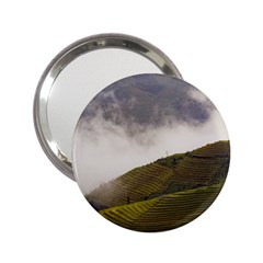 Agriculture Clouds Cropland 2 25  Handbag Mirrors