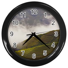 Agriculture Clouds Cropland Wall Clocks (black)
