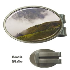 Agriculture Clouds Cropland Money Clips (Oval)