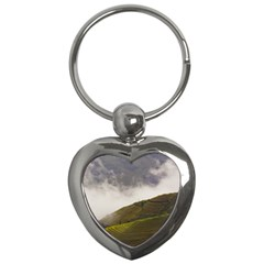 Agriculture Clouds Cropland Key Chains (heart)