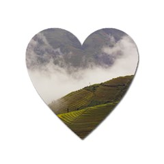 Agriculture Clouds Cropland Heart Magnet