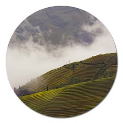Agriculture Clouds Cropland Magnet 5  (round)