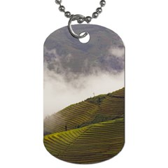 Agriculture Clouds Cropland Dog Tag (two Sides)