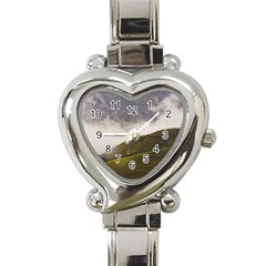 Agriculture Clouds Cropland Heart Italian Charm Watch