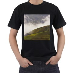 Agriculture Clouds Cropland Men s T Shirt (black) (two Sided)