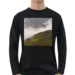 Agriculture Clouds Cropland Long Sleeve Dark T Shirts