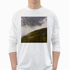 Agriculture Clouds Cropland White Long Sleeve T Shirts